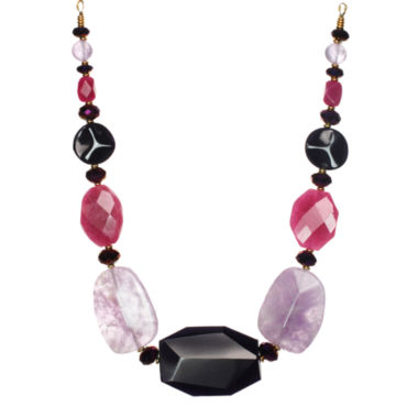 jcpenney.com | ROX by Alexa Pink & Purple Gemstone Chunky Necklace