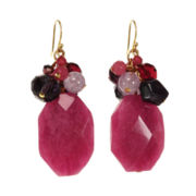 ROX by Alexa Purple & Pink Gemstone Cluster Earrings