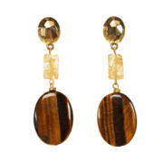 ROX by Alexa Tiger's Eye Triple-Drop Earrings