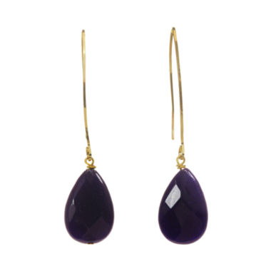 jcpenney.com | ROX by Alexa Purple Cape May Drop Earrings