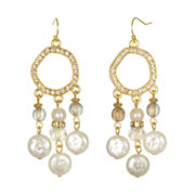 PALOMA & ELLIE Simulated Pearl & Crystal Chandelier Earrings
