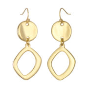 PALOMA & ELLIE Gold-Tone Freeform Disc Drop Earrings