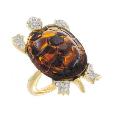 jcpenney.com | KJL by KENNETH JAY LANE Faux Tortoiseshell & Crystal Turtle Ring