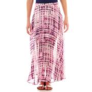 Decree® Chiffon Print Maxi Skirt
