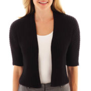 Worthington® Elbow-Sleeve Cropped Cardigan Sweater
