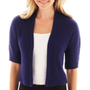 Worthington® Elbow-Sleeve Cropped Cardigan Sweater