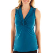 Worthington® Sleeveless Shawl-Collar Top