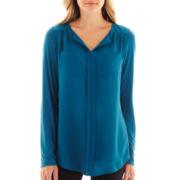 Worthington® Long-Sleeve Tunic Top