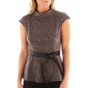 Worthington® Belted Peplum Top