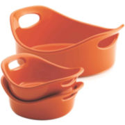 Rachael Ray® Bubble & Brown™ 3-pc. Round Stoneware Set