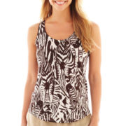 jcp™ Zebra Print Linen Tank Top