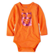 Okie Dokie® Long-Sleeve Bodysuit - Girls newborn-9m