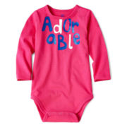 Okie Dokie® Long-Sleeve Bodysuit – Girls newborn-9m