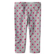 Okie Dokie® Print Knit Leggings – Girls newborn-24m