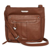 Perlina Nappa Large Organizer Crossbody Bag