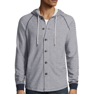 jcpenney.com | Union Bay® Long-Sleeve Monroe Button-Front French Terry Hoodie