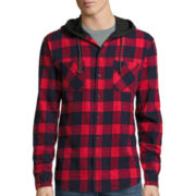 Union Bay® Long-Sleeve Grant Flannel Hoodie