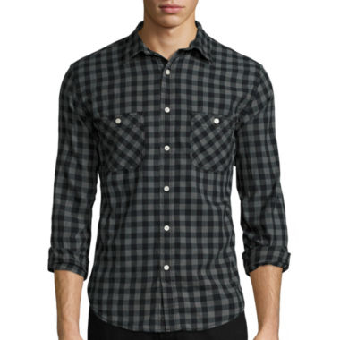 jcpenney.com | Arizona Long-Sleeve Plaid Cotton Poplin Shirt