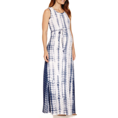jcpenney.com | Planet Motherhood Maternity Sleeveless Self-Tie Maxi Dress