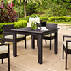 Palm Harbor Wicker Patio Dining Table