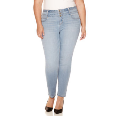 jcpenney.com | Blue Spice High-Rise Skinny Jeans - Juniors Plus