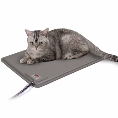 "jcpenney.com | K & H Manufacturing Deluxe Lectro-Kennel Small Heated Pad & Cover Gray 12.5"" x 18.5"" x 0.5"" 40 Watts"