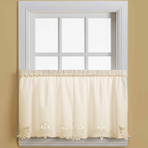 Battenburg 2-Pack Rod-Pocket Window Tiers