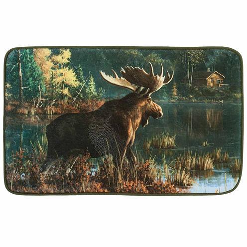 Back Bay Moose Bath Rug