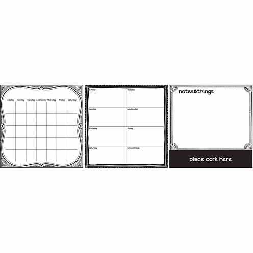 WallPops Black And White 6 Pc Combo Set