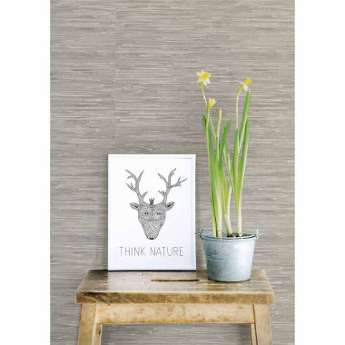 jcpenney.com | NuWallpaper Grasscloth Peel And Stick Wallpaper