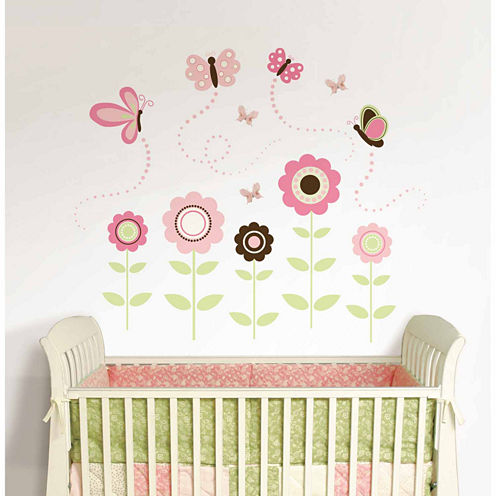 WallPops Butterfly Garden Wall Art Kit