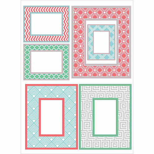 WallPops Geo Color Frame Wall Art Kit
