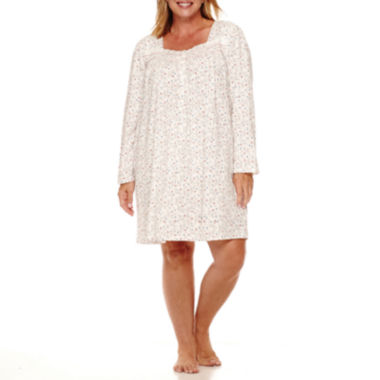 jcpenney.com | Earth Angels Long-Sleeve Short Nightgown - Plus