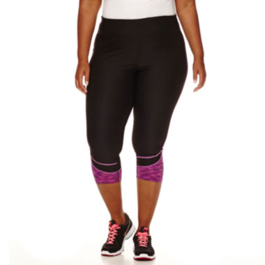 jcpenney.com | Xersion™ Colorblock Space-Dye Capris - Plus