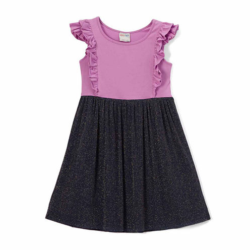 "Girl's ""Kora"" Ruffle and Tulle Baby Doll Dress"