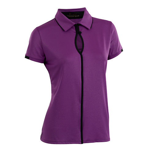 Easy Plus Short Sleeve Short Sleeve Jersey Polo Shirt Plus