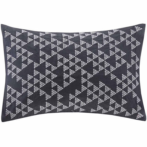 INK + IVY Thea Embroidered Oblong Throw Pillow