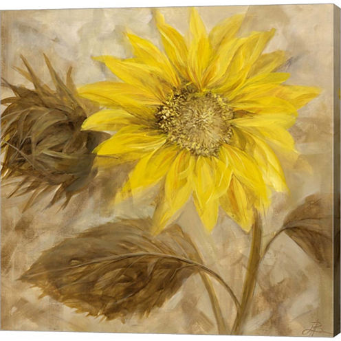 Sunflower III Gallery Wrapped Canvas Wall Art On Deep Stretch Bars