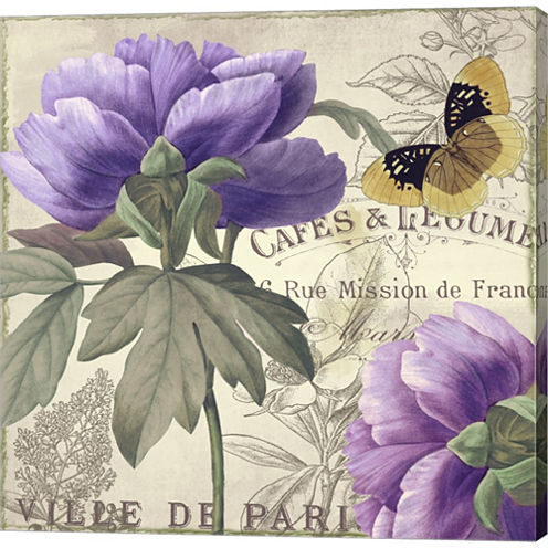 Petals Of Paris Iv Gallery Wrapped Canvas Wall Art On Deep Stretch Bars