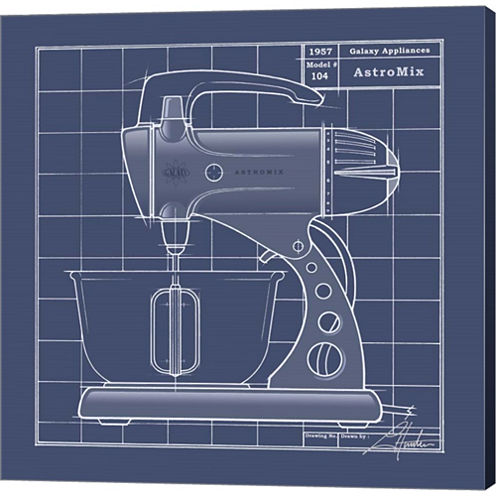Galaxy Mixer - Blueprint Gallery Wrapped Canvas Wall Art On Deep Stretch Bars