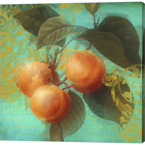 Glowing Fruits II Gallery Wrapped Canvas Wall Art On Deep Stretch Bars