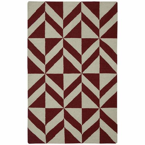 Rizzy Home Swing Collection Hand Made Flatweave Nicholas Geometric Rug