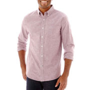 St. John's Bay® Long-Sleeve Solid Oxford