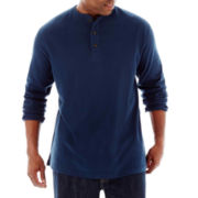 The Foundry Supply Co.™ Long-Sleeve Sueded Henley–Big & Tall
