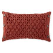 North Pole Trading Co. Diamond Woven Oblong Decorative Pillow