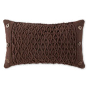North Pole Trading Co. Diamond Woven Oblong Decorative Pillow