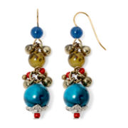 Aris by Treska Zanzibar Multicolor Bead Drop Earrings
