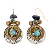 Aris by Treska Zanzibar Multicolor Bead Coin Drop Earrings