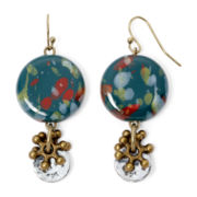 Aris by Treska Zanzibar Multicolor Confetti Bead Drop Earrings