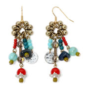 Aris by Treska Zanzibar Multicolor Bead Cluster Earrings